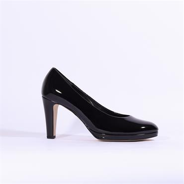 Gabor Platform Court Shoe Splendid - Black