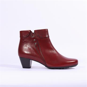 Gabor Kellis Folded Cuff Boot With Studs - Dark Red