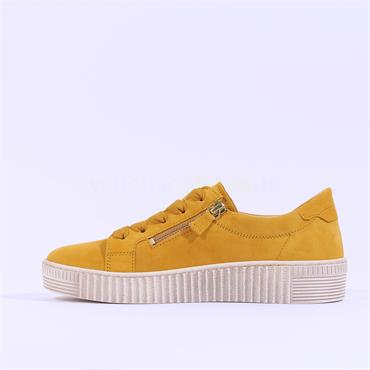 Gabor Twin Zip Platform Trainer Wisdom - Yellow Suede