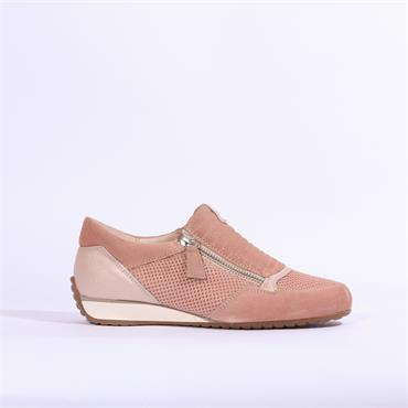Gabor Brunello Side Zip Comfort Shoe - Rose