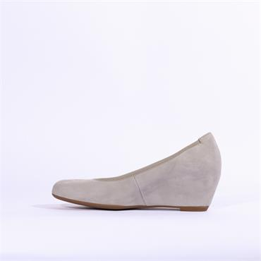 Gabor Fantasy Suede Wedge - Light Grey