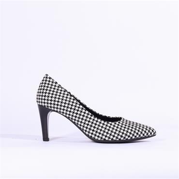 Gabor High Heel Court Shoe Mimi - Black White