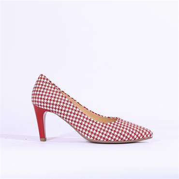 Gabor High Heel Court Shoe Mimi - Red White