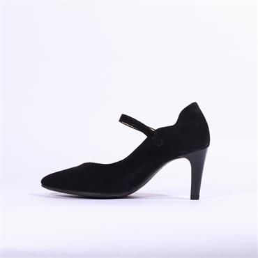 Gabor Mina High Heel With Strap - Black Suede