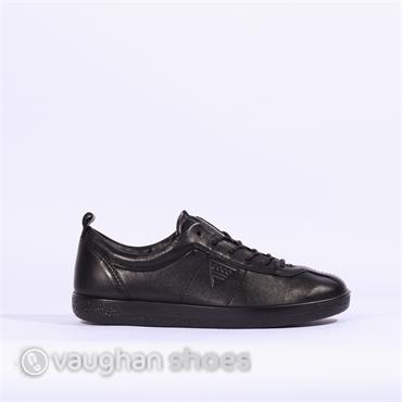 Ecco Soft 1 Casual Laced Shoe - Black