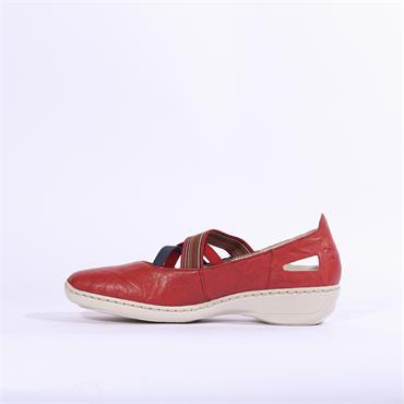 Rieker Ravenna Criss Cross Strap - Red