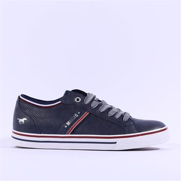 Mustang Men Light Casual Laced Trainer - Navy