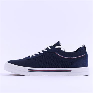Mustang Men Fabric Laced Trainer - Navy