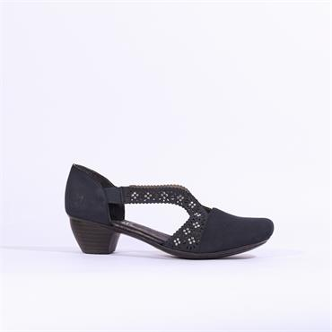 Rieker Namur Shoe Diamante Detail - Navy