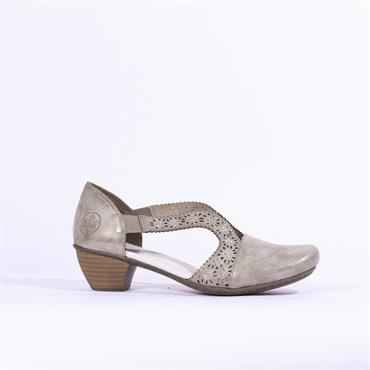 Rieker Namur Shoe Diamante Detail - Pewter