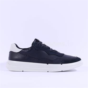 Ecco Men Soft X Trainer - Navy Leather