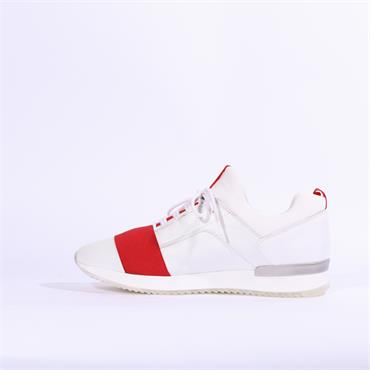 Gabor Lace Shoe Glitz Band Tripoli - White/Red