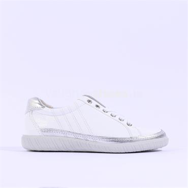 Gabor Casual Trainer Amulet - White Silver Patent