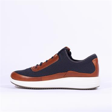 Ecco Men Soft 7 Runner - Navy Tan