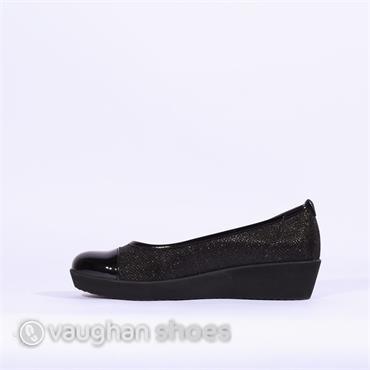 Gabor Comfort Patent Toe Orient - Black Glitter