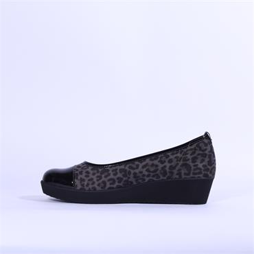 Gabor Comfort Leopard Print Orient - Black Leopard