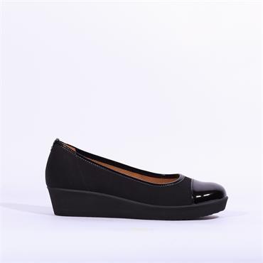 Gabor Comfort Patent Toe Orient - Black