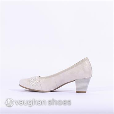 Gabor Court Shoe With Band Wallace - Metallic