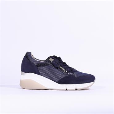 Gabor Side Zip Wedge Shoe Jessica - Navy