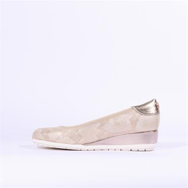 S.Oliver Low Wedge - Gold Snake