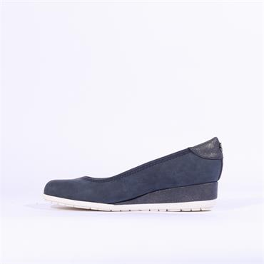 S.Oliver Low Wedge - Navy