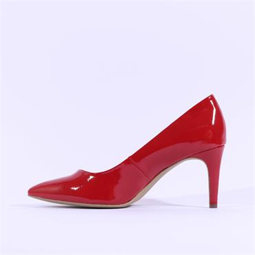S.Oliver Pointed Toe Court Shoe - Red Patent