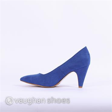 S.Oliver Suede Court Shoe - Blue