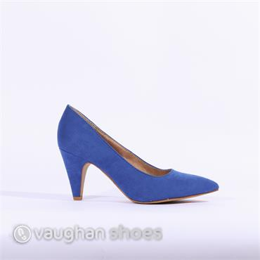 S.Oliver Suede Court Shoe - Blue