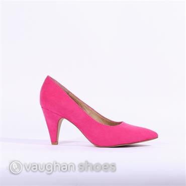 S.Oliver Suede Court Shoe - Pink