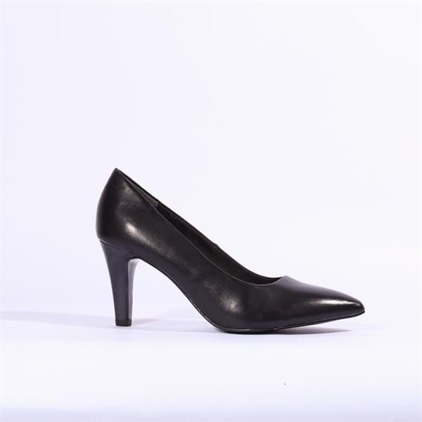 S.Oliver Pointed Toe Court Shoe Cognac Leather