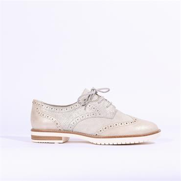 S.Oliver Two Tone Brogue - Silver Combi