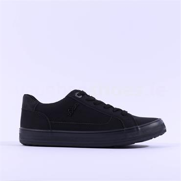 S.Oliver Laced Casual Trainer Regan - All Black