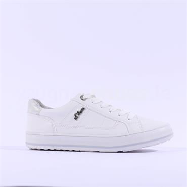 S.Oliver Laced Casual Trainer Regan - White