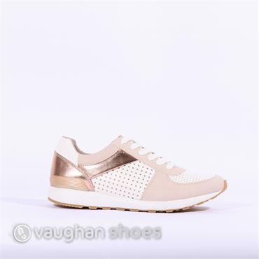 S.Oliver Casual Trainer Perforated Upper - Rose Combi