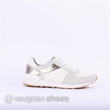 S.Oliver Casual Trainer Perforated Upper - Silver Multi