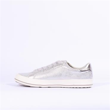 S.Oliver Side Zip Laced Casual Shoe - Silver