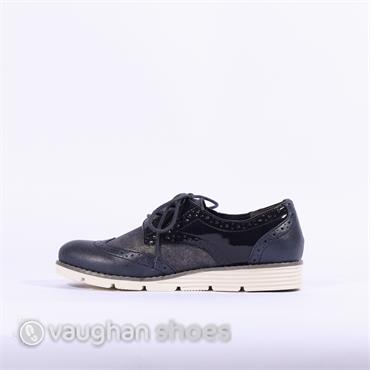 S.Oliver Laced Brogue - Navy Combi