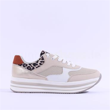 S.Oliver Narya Platfrom Trainer - Beige Leopard Combi