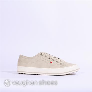 S.Oliver Casual Laced Shoe - Light Grey
