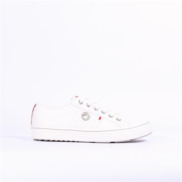 S.Oliver Casual Laced Shoe - White/Red