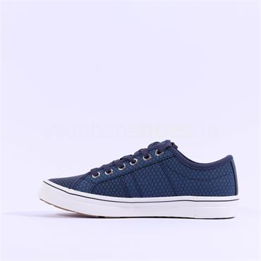S.Oliver Regan Lace Croc Trainer - Navy Croc
