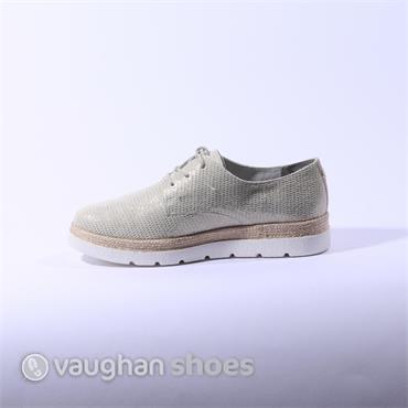 S.Oliver Laced Platform Shoe - Cream Gold