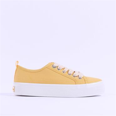 S.Oliver Verena Chunky Canvas Trainer - Yellow