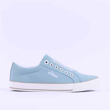 S.Oliver Motana Slip On Canvas Shoe - Light Blue