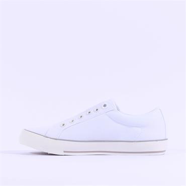 S.Oliver Motana Slip On Canvas Shoe - White