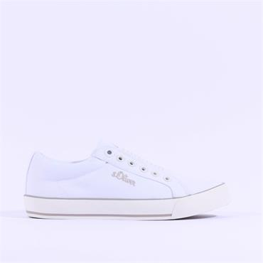 S.Oliver Motana Slip On Canvas Shoe - White