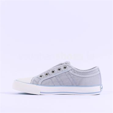 S.OLIVER Motana Slip On Canvas Toe Cap - Denim Blue