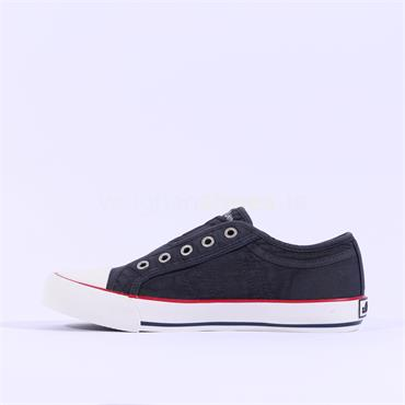 S.OLIVER Motana Slip On Canvas Toe Cap - Navy