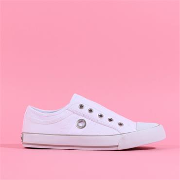 S.OLIVER Motana Slip On Canvas Toe Cap - White