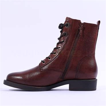 S.Oliver Welen Rope Lace Leather Boot - Cognac Leather